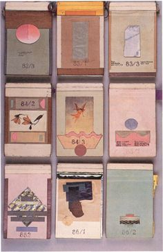 The sketchbooks (actually little note pads) Dutch Architect Herman Hertzberger.