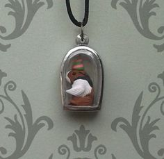 Guinea Pig Party Sculpted Silver Tone Acrylic by dreamtrappings