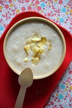 Entremet asiatique à la banane { tapioca & lait de coco }