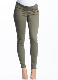 Soon Maternity - Khaki Skinny Jeans