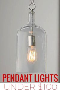 Charming Pendant Lights Under $100. Glass JugKitchen ...