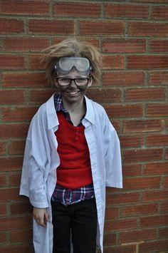 Evil scientist costume. Science circus. Makeup