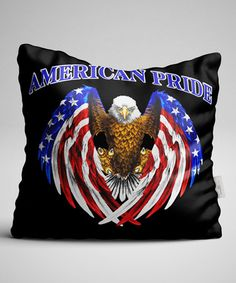 Look what I found on #zulily! Black & Blue 'American Pride' Patriotic Eagle Pillowcase #zulilyfinds