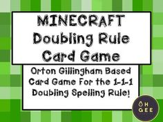Orton Gillingham based card game to practice 1-1-1 Doubling Rule game. If a 1 syllable word with 1 short vowel followed by 1 consonant, double the final consonant. Short Vowel Games, Short Vowels, Activity Games, Activities, Spelling Rules, Gillingham, Thing 1, Syllable, Reading Resources