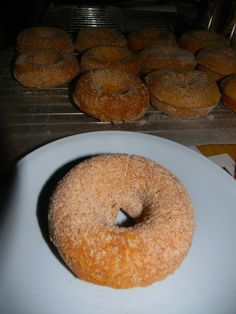 Pumpkin spice doughnuts (http://pinterest.com/pin/132011832798380475/). Pretty good, though may leave the sugar off next time and try a light cream cheese glaze.