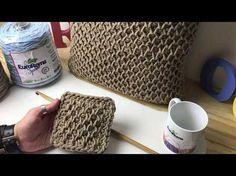 Crochetando com EuroRoma e Marcelo Nunes - Almofada em crochê Tunisiano - YouTube