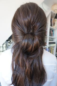 The Big Knot - Half Up Do - 5 minute Hairstyle #EstellesSecret #clipinhairextensions #hairextensions