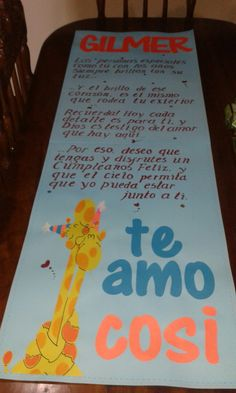 cartel de Amor Ideas Aniversario, Holidays And Events, Birthday Decorations, Boyfriend Gifts, Diy Gifts, Origami, Diy And Crafts, Happy Birthday, Scrapbook
