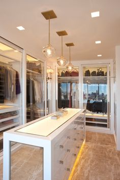 Dream Closets See through Glass doors.