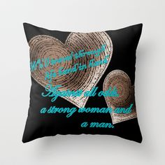 Hand In Hand, A Strong Woman And A Man Throw Pillow by Jensen Merrell Designs