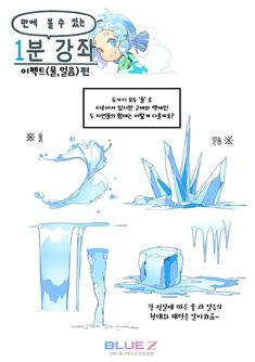 Marvelous Learn To Draw Manga Ideas. Exquisite Learn To Draw Manga Ideas. Ice Drawing, Water Drawing, Manga Drawing, Digital Painting Tutorials, Digital Art Tutorial, Art Tutorials, Drawing Reference Poses, Drawing Poses, Drawing Tips