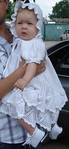 Beautiful project! KnitterrAs Rose Christening Set for my Little Princess Pattern availiable