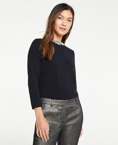 It's definitely not the first time you've seen me wear all black. It's incredibly chic, and a look I feel the most confident wearing. Holiday Outfits, Fall Outfits, Fashion Outfits, Black Gucci Belt, Wearing All Black, Fashion Jackson, Ann Taylor, Sequin Skirt, Turtle Neck