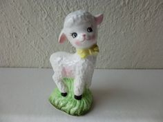 Vintage 50s 60s Japanese Enesco Potteries Salt Pepper Shaker Collectable Baby Lamb Porcelain Ceramic Kitchen Kitsch Sheep Japan Glam Garb by GlamGarbVintage on Etsy