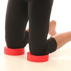 New red knee donuts! Unlike other pads, a mat or pillow - the unique design of DoD Fitness Knee Donuts provide a space between the donut and the ground so your knees never have to support your weight on the hard ground. Use for fitness, physical therapy, gardening, work, yoga and pilates.