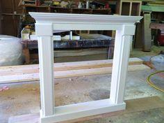 Full Fireplace Mantel Shelf - Custom Faux Mantle