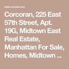 Corcoran, 225 East 57th Street, Apt. 19G, Midtown East Real Estate, Manhattan For Sale, Homes, Midtown East Co-op, Serena Brownell