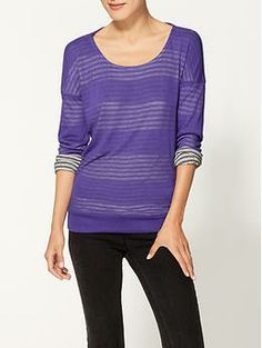 This looks so comfy! --- Splendid Exclusive Chelsea Shadow Stripe Sweater | Piperlime