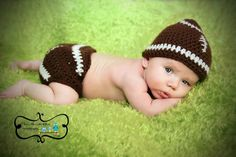 Baby Football Hat And Diaper Cover Photo Prop Sizes Between Newborn. Trendy Baby Boy Clothes, Baby Boy Outfits, Football Baby, Football Shoes, Newborn Pictures, Newborn Pics, Baby Pictures, Baby Girl Names Unique, Winter Newborn