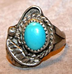 ESTATE PERSIAN TURQUOISE Navajo Sterling Silver by AuctionHunter, $160.00