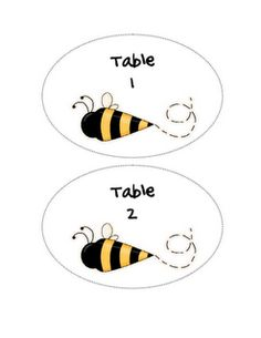 cute table numbers