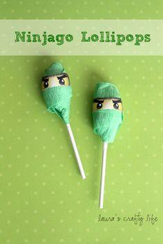 Ninjago Lollipops and Printable Ninjago Eyes
