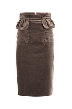 Burberry Prorsum Corduroy Pencil Skirt. #iwish