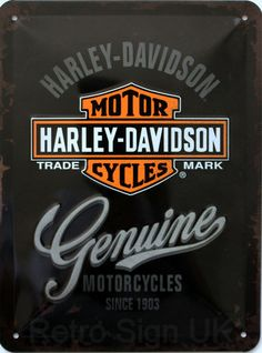 Harley-Davidson Genuine Embossed Decorative Wall Sign