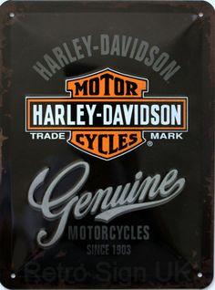 Harley-Davidson Genuine Embossed Decorative Wall Sign