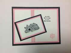 Stampin up Bow Wow Sympathy