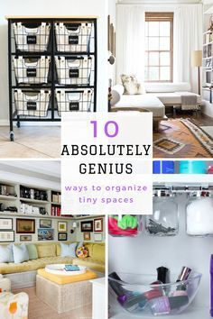 Small Space Living Hacks, Tiny Space Organization, How to Organize Tiny Spaces, Small Space Organization, Small Space Living, Tiny Apartment Hacks, Tiny Apartment Organization, Organization, Home Organization, Popular Pin