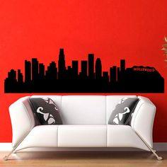 Los Angeles Skyline City Silhouette Wall Vinyl Decal