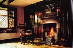 """Dove Cottage, Grasmere in The Lake District, home of Wiliam Wordsworth and his sister Dorothy from 1799 to 1808. From """"English Cottage Interiors"""" by Hugh Lander & Peter Rauter. Cassell Paperbacks"""