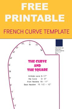 FREE PRINTABLE FRENCH CURVE TEMPLATE (scheduled via http://www.tailwindapp.com?utm_source=pinterest&utm_medium=twpin&utm_content=post60368340&utm_campaign=scheduler_attribution)