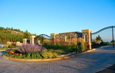 neighborhood entrance landscaping   Lake Pointe   A Private Gated Community bordering the Eagle Bend Lake ...
