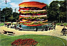 "postcard collage ""Mcdonald monument"""