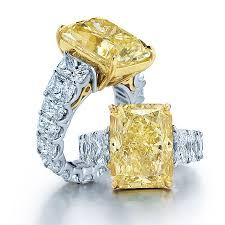 Luxury white and yellow diamond ring