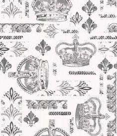 Arley Black / Grey wallpaper by Timney Fowler