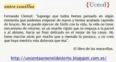 """Fernando Clemot: """"Supongo que todos hemos...""""."""