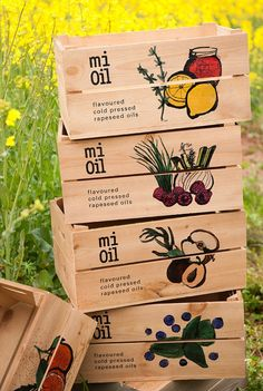 At the moment I'm obsessed with plantabox.co.uk. They have personalized apple crates that look really adorable. Okay, so maybe they are the hot item to have and are slightly (very) overused but you can see why. These crates were designed for Mi Oil who make flavoured rapeseed oils.
