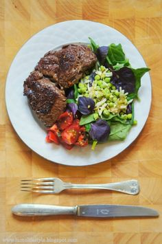 Juicy entrecote with delicious with #salads