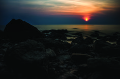 The sun is settning in the andaman sea outside the idyllic island Koh Chang in Thailand Stefan Johansson, Koh Chang, Dusk, Thailand, Celestial, Island, Sunset, Outdoor, Outdoors