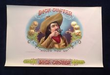 DICK CUSTER CIGAR BOX GOLD EMBOSSED LABEL OLD WEST COWBOY GUN SLINGER