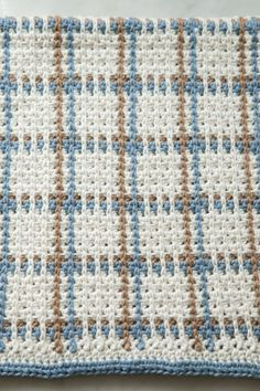 Crocheted Woven Towel - Kitchen dishtowel pattern that looks like it's woven but it is a crochet pattern