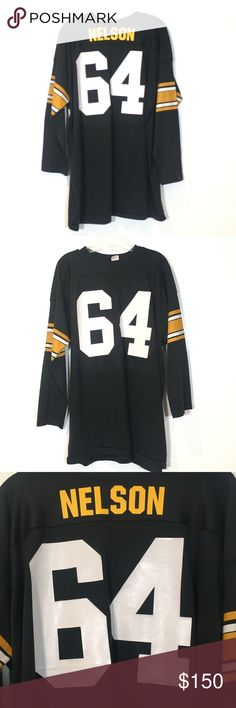 220465cbc8b  Mason  Edmund Nelson Pittsburgh Steelers Jersey ONE OF A KIND! Extremely  Rare Vintage