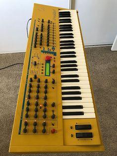 MATRIXSYNTH: Yellow Waldorf Q Keyboard Synthesizer w/ Q Cards