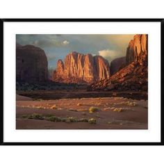Global Gallery 'Camel Butte Rising from the Desert Floor, Monument Valley, Arizona' Framed Photographic Print Size: