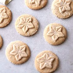 Apple pie spice adds an unexpected flavor to these beautiful Brown Sugar Shortbreads. More shortbread recipes here: http://www.bhg.com/christmas/cookies/sensational-shortbread-cookies-for-christmas/?socsrc=bhgpin112713brownsugarshortbreads&page=1