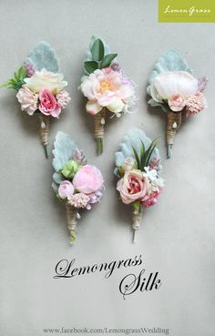 Series corsages. Special pricing will apply.