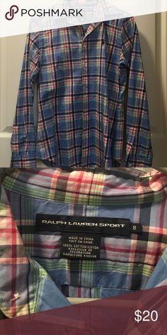 Ralph Lauren button up Ralph Lauren button up. Size 8. Excellent condition Ralph Lauren Tops Button Down Shirts